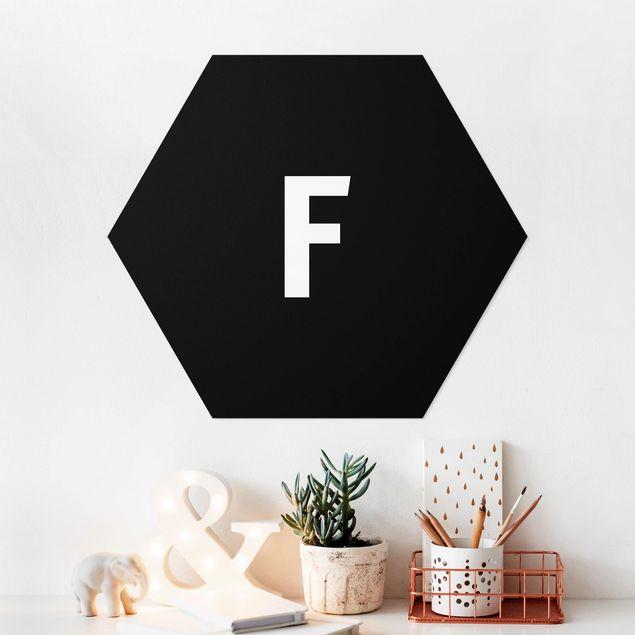 Hexagon Bild Forex - Buchstabe Schwarz F