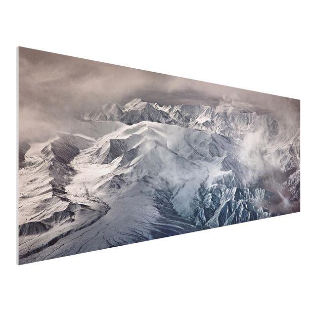 Forex Fine Art Print - Berge von Tibet - Panorama