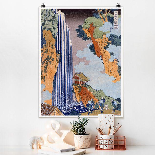 Poster - Katsushika Hokusai - Ono Wasserfall - Hochformat 3:4