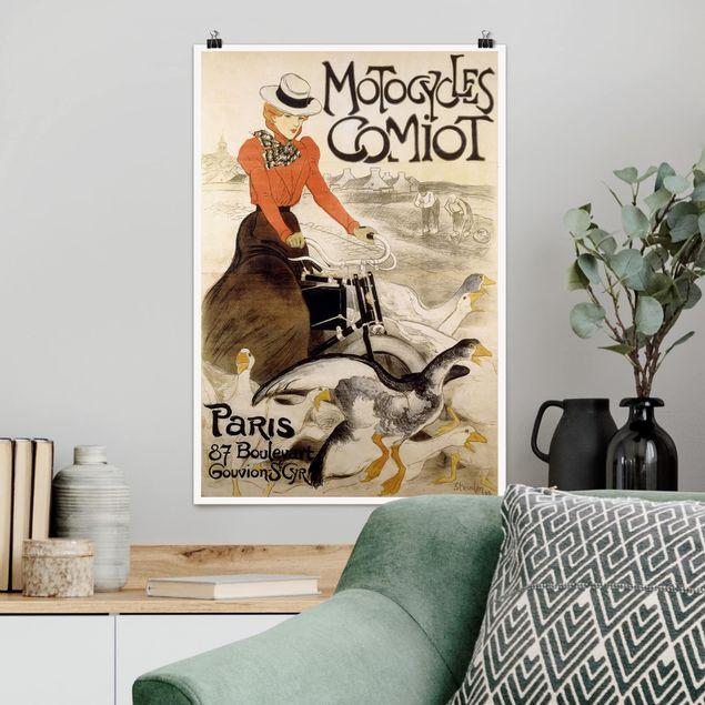 Poster - Théophile-Alexandre Steinlen - Werbeplakat für Motorcycles Comiot - Hochformat 3:2