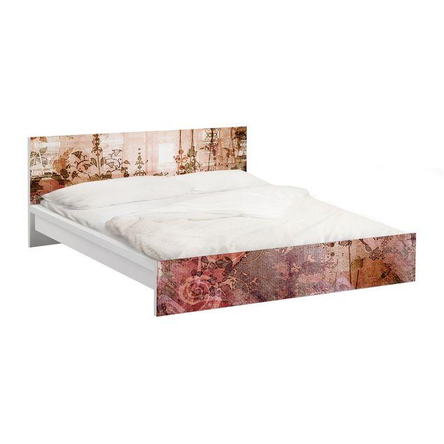 Möbelfolie für IKEA Malm Bett niedrig 140x200cm - Klebefolie Old Grunge