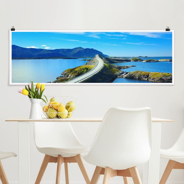 Poster - Crossing Norway - Panorama Querformat