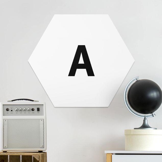 Hexagon Bild Forex - Buchstabe Weiß A