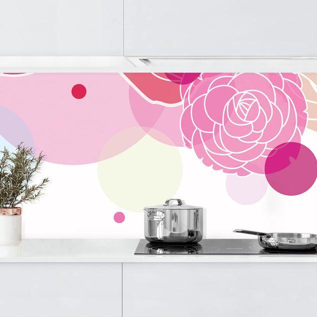 Küchenrückwand - Roses and Bubbles