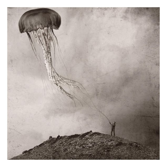 Forex Fine Art Print - Fliegende Medusa - Quadrat 1:1