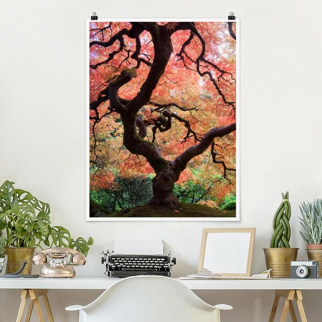 Poster - Japanischer Garten - Hochformat 3:4