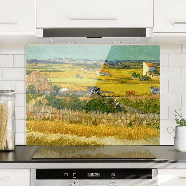 Glas Spritzschutz - Vincent van Gogh - Die Ernte - Querformat - 4:3