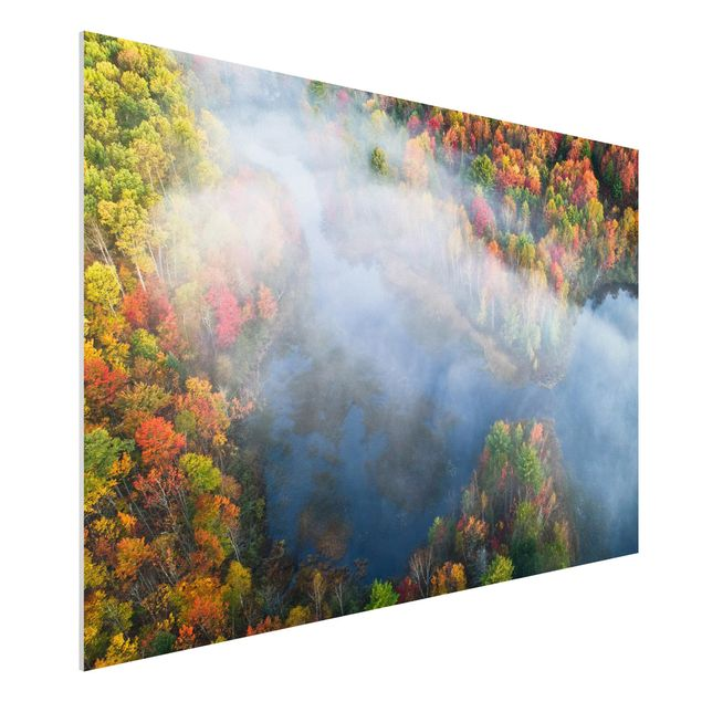 Forex Fine Art Print - Luftbild - Herbst Symphonie - Querformat 2:3