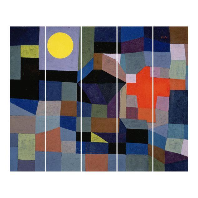 Schiebegardinen Set - Paul Klee - Feuer bei Vollmond - Flächenvorhänge