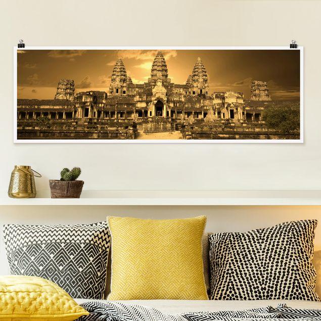 Poster - Tempel - Panorama Querformat