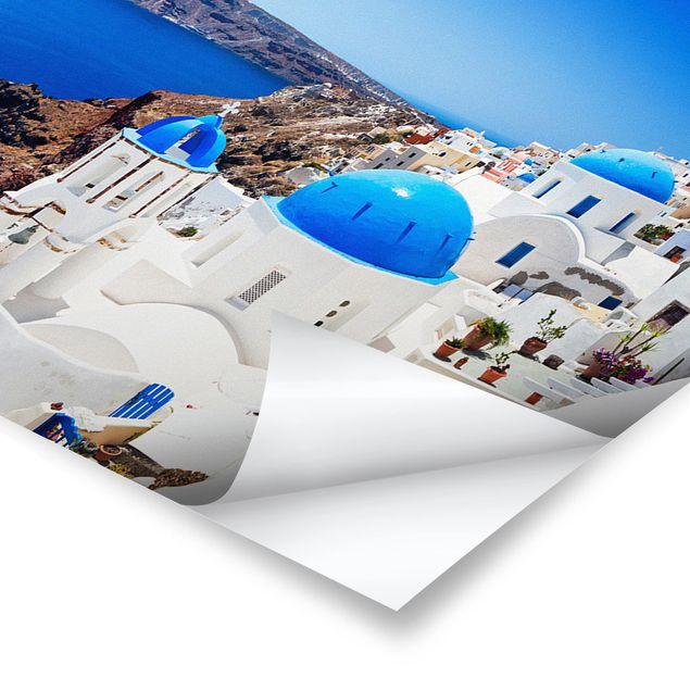 Poster - View Over Santorini - Panorama Querformat