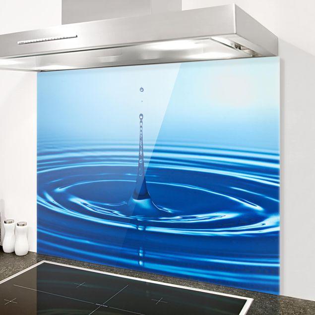 Glas Spritzschutz - No.263 Drop with Waves - Querformat - 4:3
