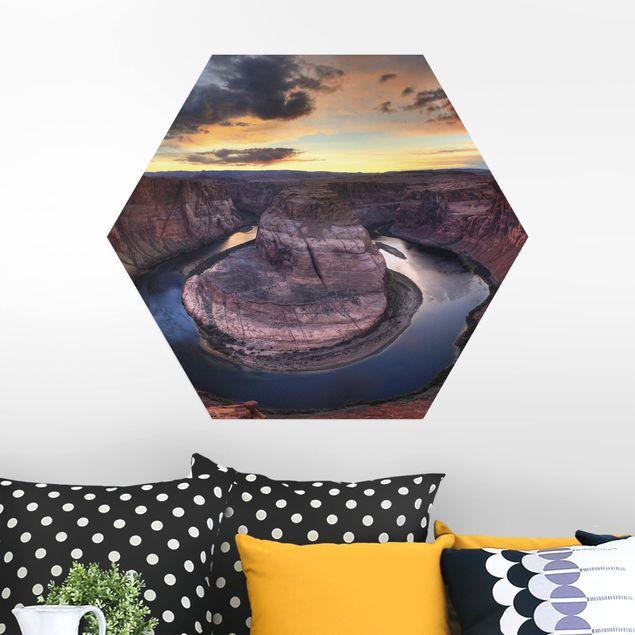 Hexagon Bild Alu-Dibond - Colorado River Glen Canyon
