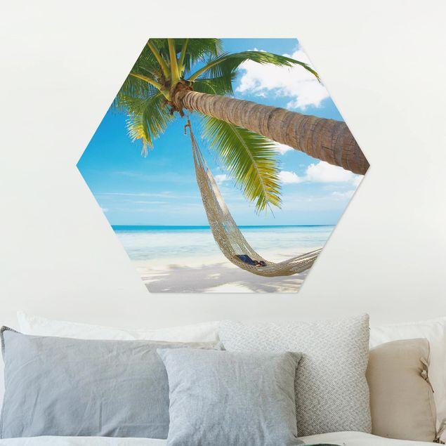 Hexagon Bild Alu-Dibond - Relaxing Day
