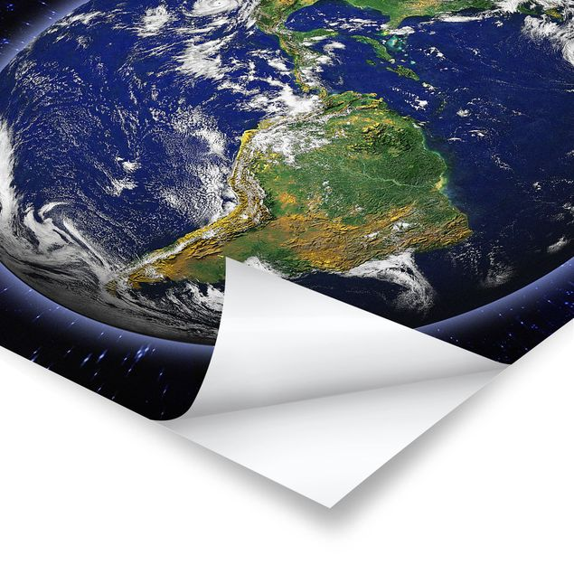 Poster - Die Erde - Quadrat 1:1