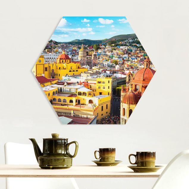 Hexagon Bild Forex - Bunte Häuser Guanajuato
