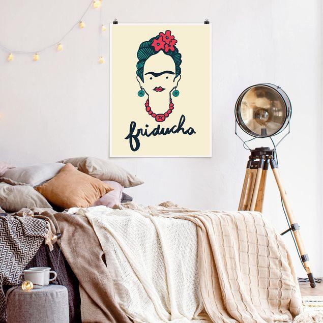 Poster - Frida Kahlo - Friducha - Hochformat 3:4