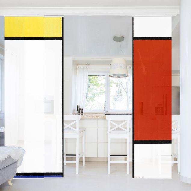 Schiebegardinen Set - Piet Mondrian - Komposition I - Flächenvorhänge