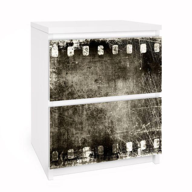 Möbelfolie für IKEA Malm Kommode - Selbstklebefolie Vintage Film