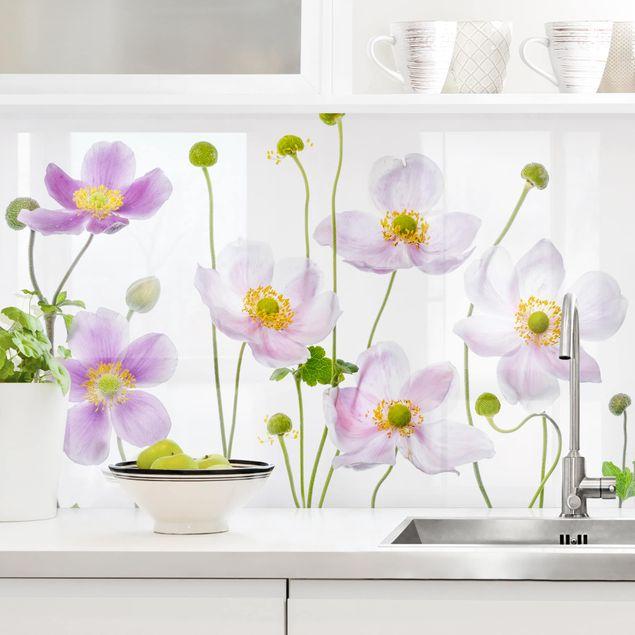 Küchenrückwand - Anemonen Mix