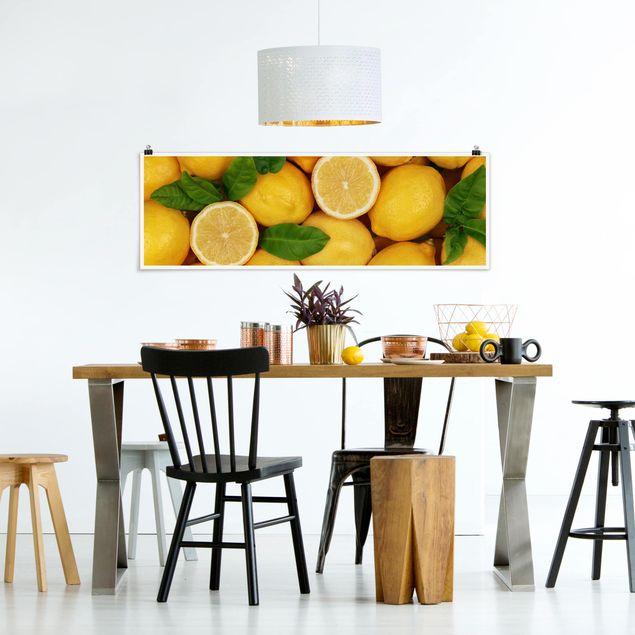 Poster - Saftige Zitronen - Panorama Querformat