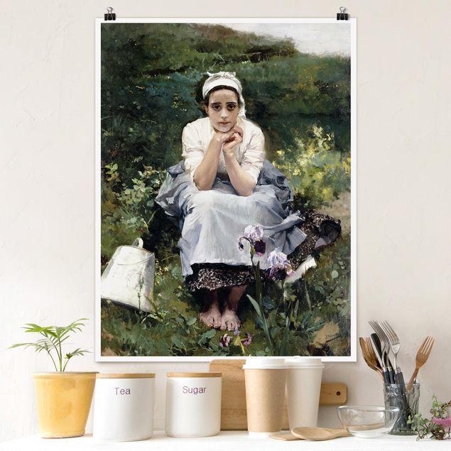 Poster - Joaquin Sorolla - Das Milchmädchen - Hochformat 3:4