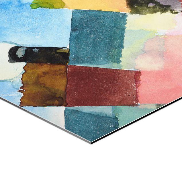 Hexagon Bild Alu-Dibond - Paul Klee - Mondaufgang
