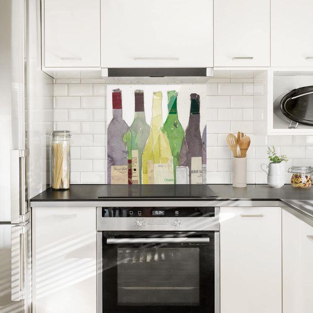 Glas Spritzschutz - Wein & Spirituosen III - Quadrat - 1:1