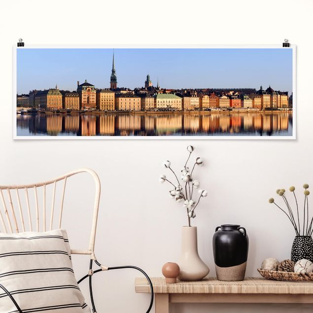 Poster - Stockholm Skyline - Panorama Querformat