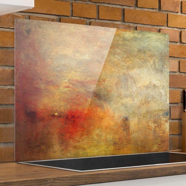 Spritzschutz Glas - Joseph Mallord William Turner - Sonnenuntergang über einem See - Querformat 3:4