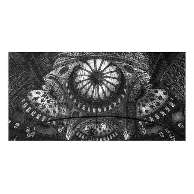 Forex Fine Art Print - Die Kuppeln der blauen Moschee - Querformat 1:2