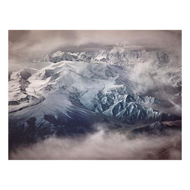Forex Fine Art Print - Berge von Tibet - Querformat 3:4