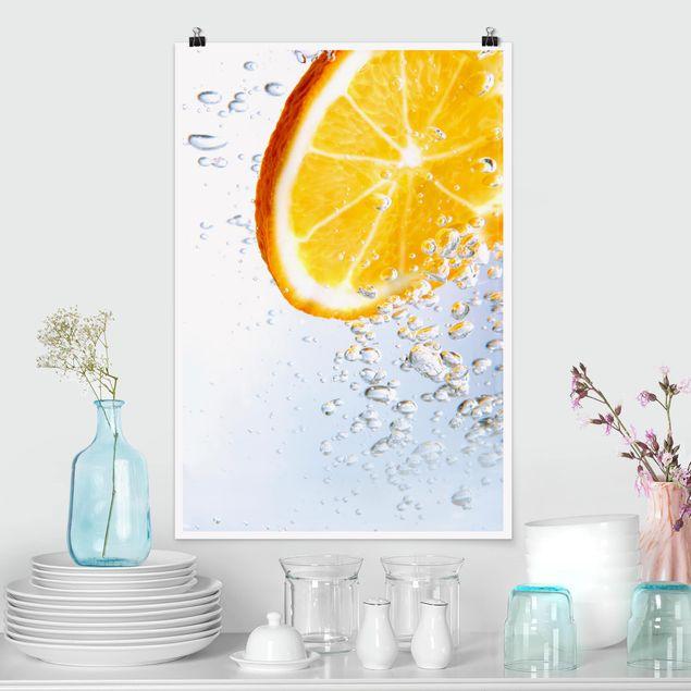 Poster - Splash Orange - Hochformat 3:2