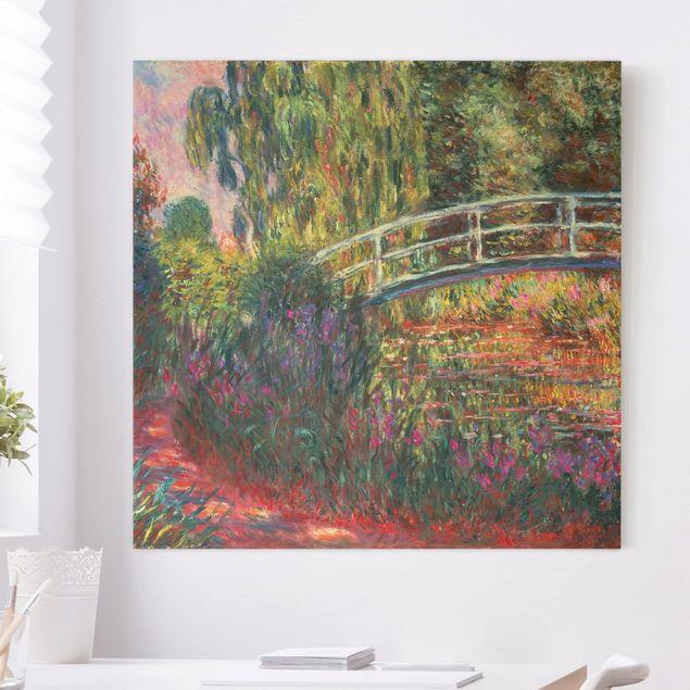 Leinwandbild - Claude Monet - Japanische Brücke im Garten von Giverny - Quadrat 1:1
