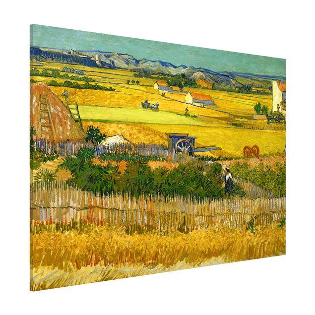 Magnettafel - Vincent van Gogh - Die Ernte - Memoboard Querformat 3:4