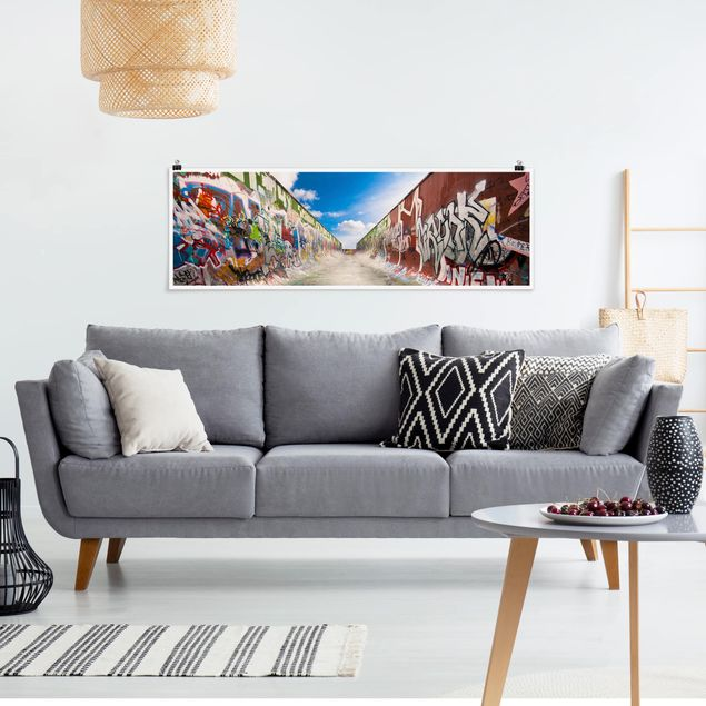 Poster - Skate Graffiti - Panorama Querformat