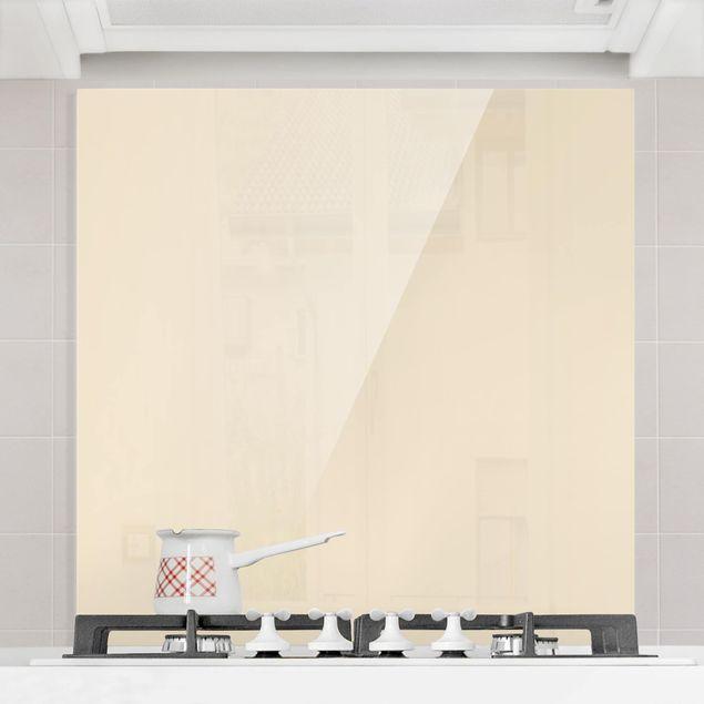Glas Spritzschutz - Crème - Quadrat - 1:1