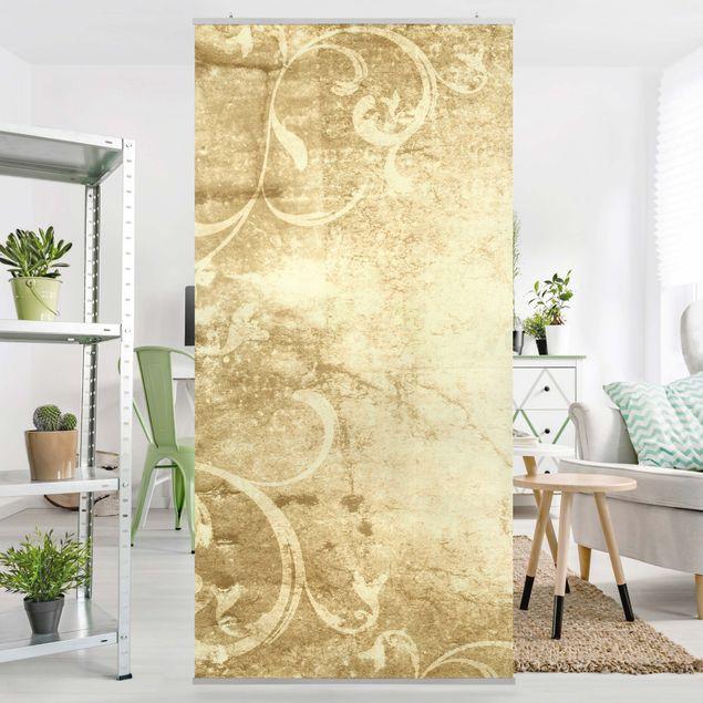 Raumteiler - Pergament mit Ornamentik 250x120cm