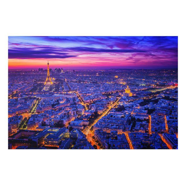Forex Fine Art Print - Paris bei Nacht - Querformat 2:3