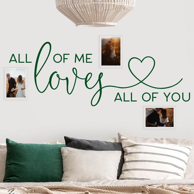 Wandtattoo einfarbig - All of me loves all of you Herz