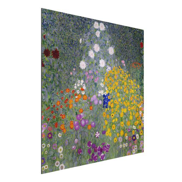 Alu-Dibond Bild - Gustav Klimt - Bauerngarten