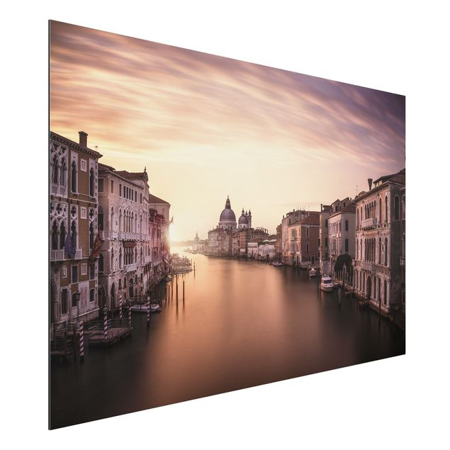 Alu-Dibond Bild - Abendstimmung in Venedig