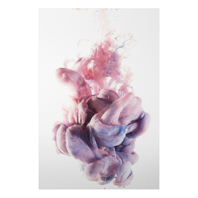 Alu-Dibond Bild - Abstrakte flüssige Farbverläufe