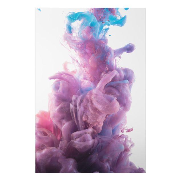 Alu-Dibond Bild - Abstrakter flüssiger Farbeffekt