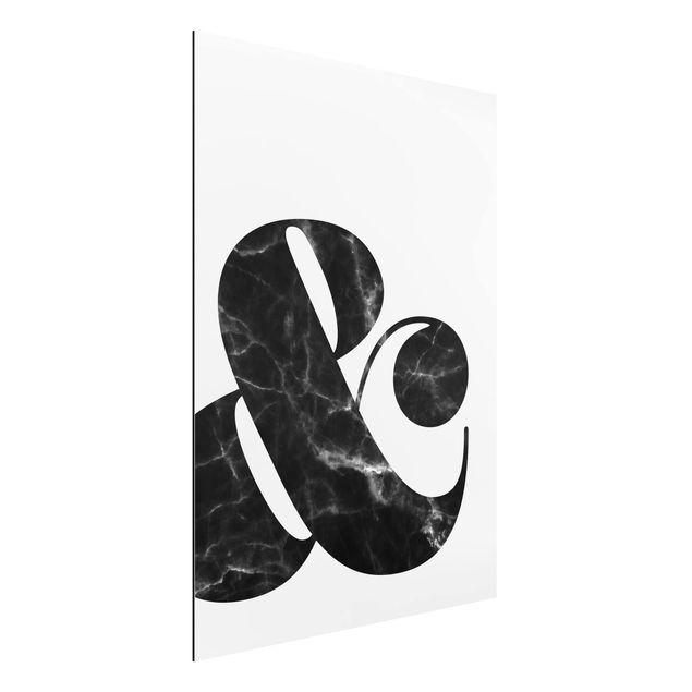Alu-Dibond Bild - Ampersand Marmor