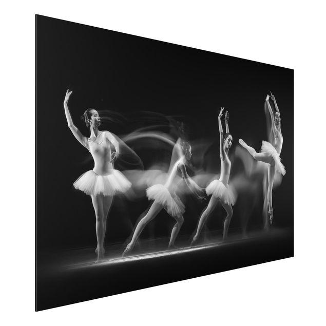 Alu-Dibond Bild - Balerina Art Wave