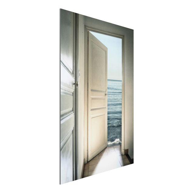 Alu-Dibond Bild - Behind the Door