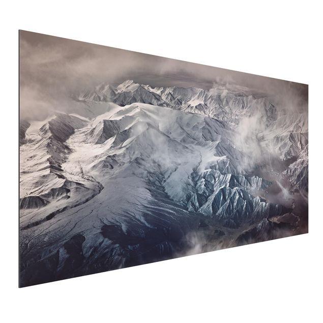Aluminium Print - Berge von Tibet - Querformat 1:2