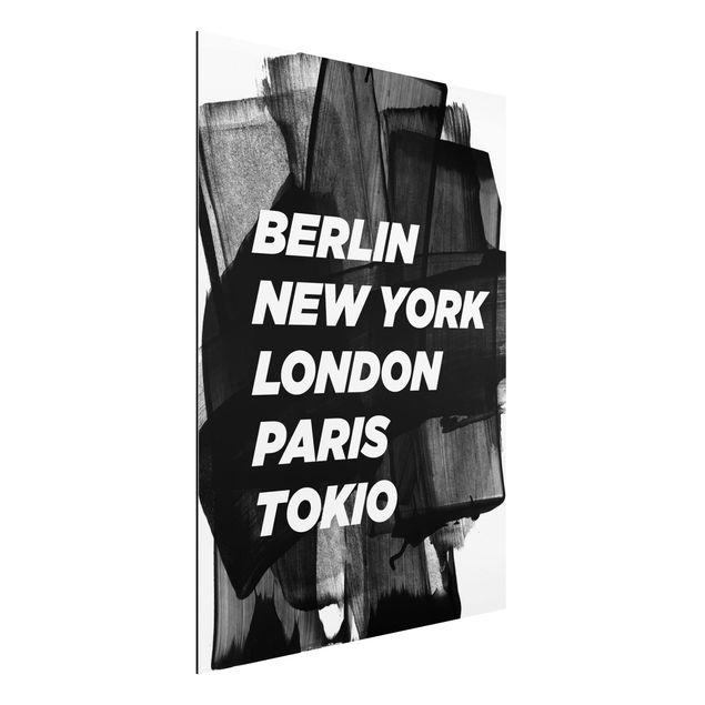 Alu-Dibond Bild - Berlin New York London