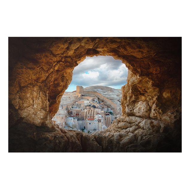Alu-Dibond Bild - Blick auf ein Kloster